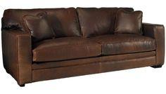Klaussner Home Furnishings - Homestead - Leather Sofa - Jordan's Furniture