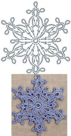 Large Snowflake Lace Crochet Motifs / Snowflake motif – Snowflakes World Crochet Snowflake Pattern, Crochet Motifs, Crochet Snowflakes, Crochet Doilies, Crochet Flowers, Crochet Stitches, Crochet Patterns, Blanket Patterns, Crochet Diagram