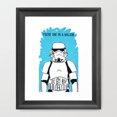 You're One in a Million Framed Art Print by Mike Brennan - $42.00