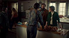 "Fargo 2x02 ""Before The Law"" - Dodd Gerhardt (Jeffrey Donovan), Floyd Gerhardt (Jean Smart), Bear Gerhardt (Angus Sampson), Denise (Anna Cummer) & Hanzee Dent (Zahn McClarnon)"