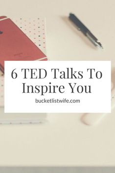 Have you been lacking motivation lately? Look no further! TED talks are one of my favorite ways to be motivated and inspired. Check out 6 TED talks to inspire you to live your best life, here.