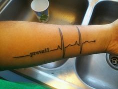 """hipstersdontknowcardiology:       """"My new tattoo. Kinda similar to others but I played with it a little  THIS IS WHAT A NORMAL HEART RHYTHM LOOKS LIKE, HIPSTERS.""""      Actually, judging by voltage alone, this person has left ventricular hypertrophy and right atrial enlargement, so they likely have heart failure. So I'm doubtful that that heartbeat will prevail for too long…  WayfaringMD with the eagle-eyed SMACKDOWN. HAHAHA!!!"""
