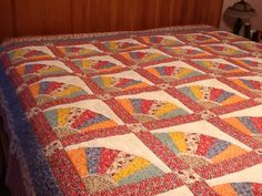 Larger view of my Grandmother's Fan quilt