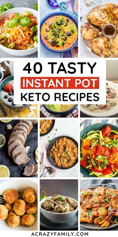 40 Easy Keto instant pot recipes that are easy, healthy, and delicious! These Keto instant pot recipes are a lifesaver! Pulled Pork Recipes, Pot Roast Recipes, Crockpot Recipes, Delicious Recipes, Cooking Recipes, Low Carb Vegetable Soup, Soup With Ground Beef, Instant Pot Dinner Recipes, Chicken Wing Recipes