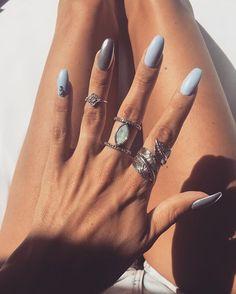 babyblue & chrome Nails @nails_and_beauty_by_mery #nailart #nails2inspire #nailartaddict