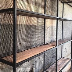 everyone started to appreciate the visual appeal of industrial, and today this is one of our favorite styles ever. We bring you 5 industrial style restaurants. Vintage Industrial Furniture, Industrial Living, Industrial Bedroom, Rustic Furniture, Furniture Design, Industrial Cafe, Industrial Wallpaper, Industrial Bookshelf, Industrial Apartment