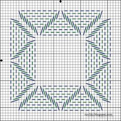 swedish weave pattern Good pattern for a coaster Swedish Embroidery, Blackwork Embroidery, Cross Stitch Embroidery, Embroidery Patterns, Hand Embroidery, Cross Stitch Patterns, Cross Stitches, Loom Patterns, Weaving Designs