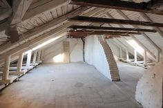 Bricks + wood + attic