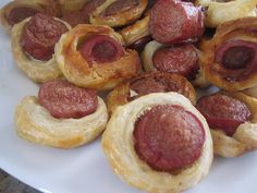 Pigs in a Blanket With Puff Pastry Dough Recipe Pastry Dough Recipe, Puff Pastry Dough, Pigs In A Blanket, Krispy Kreme, Fancy Party Food, Grilled Bread, Popsugar Food, Spicy Sausage, Salty Snacks