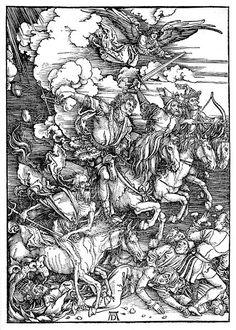 Albrecht Durer. Four Horsemen of the  Apocalypse.