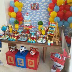 3rd Birthday Party For Boy, Planes Birthday, Birthday Party Decorations, Festa Toy Story, Happy 1st Birthdays, Leo, Disney, Baby Shower Diapers, Cars Birthday Parties