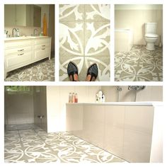 Project with Aparici Retro Tiles for a master bathroom near Zurich, Switzerland.