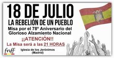 July 18, 2014. Commemoration of the 1936 fascist coup d ' état against the second Spanish Republic, which resulted in a bloody Civil War