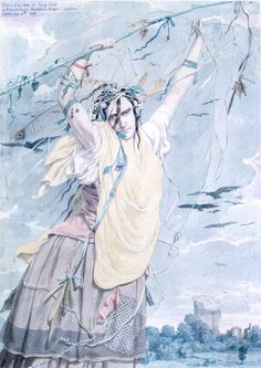 Sketch of an Idea for Crazy Jane, by Richard Dadd (1855), while incarcerated as criminally insane.