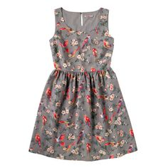 British Birds Sleeveless Dress