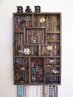 Bedroom Decor Jewelry Holder Organizer by barbwireandbarnwood, $128.00