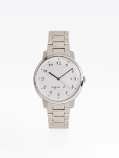 montre homme cadran blanc bracelet acier | agnès b. Bracelet Watch, Watches, Bracelets, Silver, Accessories, Steel, White People, Wristwatches, Clocks