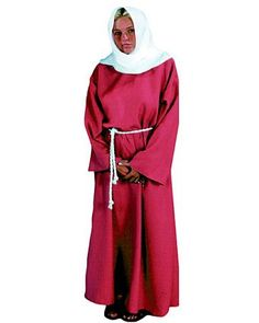 Womens Burgundy Biblical Peasant Lady