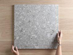 Stirling Terrazzo Look Grey Matt Tile - No - Apartment renovation inspiration - Badezimmer Concrete Look Tile, Concrete Floors, Pandomo Floor, Terrazo Flooring, Online Tile Store, Interior Design Presentation, Terrazzo Tile, Apartment Renovation, Bathroom Floor Tiles