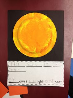 Outer Space Unit - make planets, moon, or sun out of paper plate. 1st Grade Science, Kindergarten Science, Elementary Science, Science Classroom, Teaching Science, Kindergarten Classroom, Classroom Resources, Elementary Education, Solar System Activities