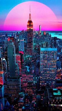 vaporwave city Created by Feel-lip,Lee - vaporwave Hd Wallpaper Android, Wallpaper Tumblr Lockscreen, City Wallpaper, Aesthetic Iphone Wallpaper, Aesthetic Wallpapers, Wallpaper Backgrounds, Nice Wallpapers, Emoji Wallpaper, Trendy Wallpaper