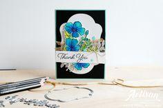 Love, Kayla: Colour Your Season ~ Stampin' Up! Artisan Design Team Blog Hop Thanks Card, Beautiful Handmade Cards, Watercolor Pencils, Scrapbook, Season Colors, Flower Cards, Hello Everyone, Stampin Up Cards, Artisan