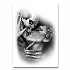 """Love Lost"" Temporary Tattoo by OG Abel #InkedShop #art #love #skull #dayofthedead"