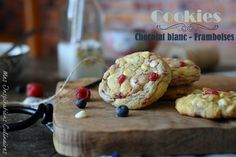 Recette Cookies au chocolat blanc framboise et citron / white chocolate and raspberry cookies #cookie #raspberry #whitechocolate #easyrecipe