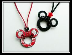 DIY Mickey Mouse Washer Necklaces