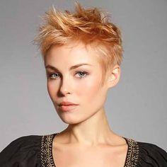 short strawberry blonde hair