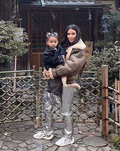 Kim Kardashian posted this adorable photo with her daughter Chicago West on vacation together in Tokyo, Japan. See more cute Kardashian Kids Photos. Kim Kardashian Yeezy, Kardashian Family, Kardashian Style, Kardashian Jenner, Kardashian Fashion, Kids Yeezys, Runners Shoes, Cute Baby Photos, Celebrity Kids