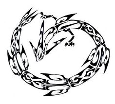 Rayquaza Tribal Tattoo