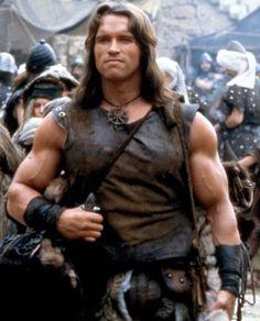 Arnold Schwarzenegger is Conan the Barbarian Patrick Schwarzenegger, Arnold Movies, Conan The Barbarian 1982, Max Von Sydow, Conan Der Barbar, Arnold Schwarzenegger Bodybuilding, Conan The Destroyer, Conan Movie, Films Cinema