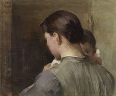 A woman and a child (ca 1887) is the newly discovered painting by the Finnish Golden Era painter Helene Schjerfbeck. The painting was hidden under a landscape painting (View from Raasepori) and IR researched revealed another painting under that. Amazing piece of art!    The Finnish National Gallery Ateneum, Helsinki.