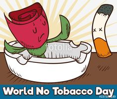Rose Stopping to a Cigarette in World No Tobacco Day