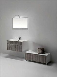 "Fitto 36"" Ash Gray Wall Mount Modern Bathroom Vanity"