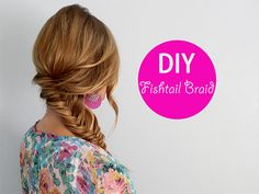 DIY Fishtail braid. UPDATE AFTER DOING: pretty quick style to do and handy for those days I feel like my hair won't cooperate