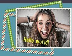 Online Fotobearbeiter. Effekte, lustige Rahmen und Aufkleber