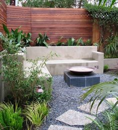 Built In Concrete Bench With Planters By Jen.wic.56
