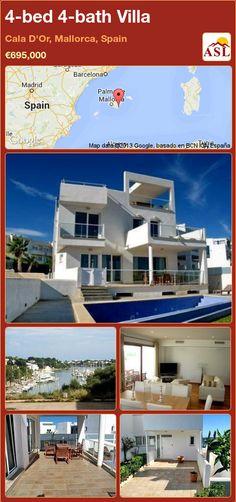 4-bed 4-bath Villa in Cala D'Or, Mallorca, Spain ►€695,000 #PropertyForSaleInSpain