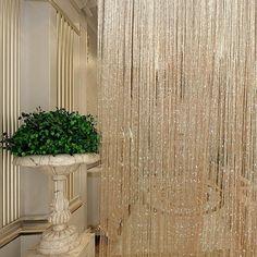 String Curtains, Tassel Curtains, Cool Curtains, Beautiful Curtains, Lined Curtains, Ceiling Curtains, Room Divider Doors, Room Divider Curtain, Curtain Room