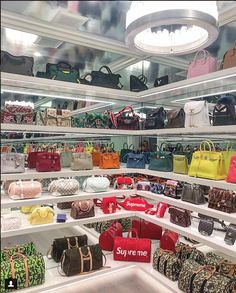Have a look: Martyn Lawrence Bullard's take on Kylie Jenner's house Casa Kylie Jenner, Kylie Jenner Bags, Kardashian Jenner, Kendall Jenner House, Walk In Wardrobe, Walk In Closet, Closet Space, Bag Closet, Sacs Design