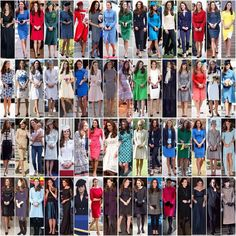 All the public outfits Kate wore in 2014. She made at least one private visit to a charity and the pink & black wrap dress she wore isn't featured here.