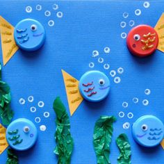 25 Incredible Under The Sea Crafts For Kids – Play Ideas Under The Sea Decorations, Under The Sea Crafts, Under The Sea Theme, Under The Sea Party, Summer Crafts For Toddlers, Toddler Crafts, Preschool Crafts, Art For Kids, Preschool Christmas