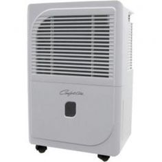 Comfort-Aire's BHD-301-H portable dehumidifier is designed to efficiently and quietly remove moisture from the air-and to look good doing it. The cabinet on the 30 pint-per-day model is compact and lightweight; it rolls easily from room to room on durable casters. All Comfort-Aire portable dehumidifiers operate down to 41 F. 7' cord. 115V. 1500-2000 sq ft coverage. Stone White.