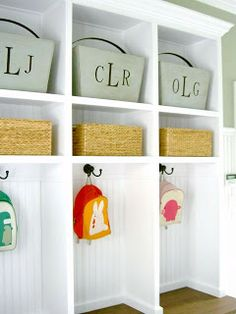 Beautiful mud room lockers