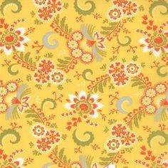 Lemonade Yellow Small Flower High Street Fabric - Moda - Lily Ashbury - Reg 10.99