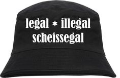 Sonnenhüte, Mützen & Co individuell bedruckt.  legel, illegal, scheissegal alles gibt es bei www.90min.de