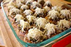 Easy entertaining! // Walnut Parmesan Stuffed Mushrooms via From the Little Yellow Kitchen