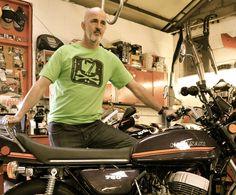 Vintage Kwacka works t shirt. Kawasaki motorcycle.